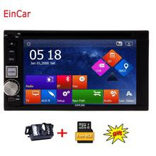 Backup Camera included HD GPS Navigation Double 2 Din Car Stereo Automotive DVD Player Radio USB SD iPod MP5 Autoradio Head Unit