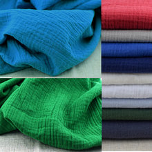 Free ShippingSoft Linen Cotton Material Cotton Crincle Wrinkle Tissue Scarves Dress Double LayerLinen CottonCrepe Fabric