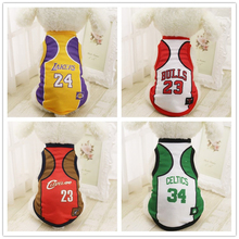 Summer Fashion Sport Basketball Dog Clothes Costume Chihuahua Pet Dog Clothing Cool Breathable Cat Shirt Vest XS-2XL(China)