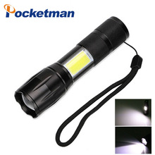 3800LM CREE LED Flashlight T6&COB Q5&COB Zoomable 4 Mode Outdoor Camp Lamp Tactical Torch light 18650/AAA 14500/AA Powerfu