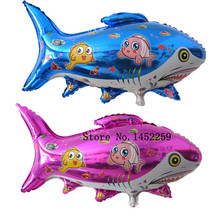 XXPWJ Free shipping the new aluminum film balloon toy for children birthday party shark balloon wholesale