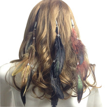 2017 Fashion Women Hair Accessories Peacock Feather Headband Party Christmas Headband Costume Party Head Piece Hair Band