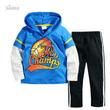 ST154, football, 6sets, children boys clothing sets pajamas, long sleeve t shirts sets 1-6Y, 100% cotton(China)