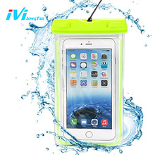 IVI Waterproof Case Cover Coque Bag Cellphone Pouch Water-proof Swim Surf Dive Water proof for iPhone 7 7Plus 6 6s S8 Univeral