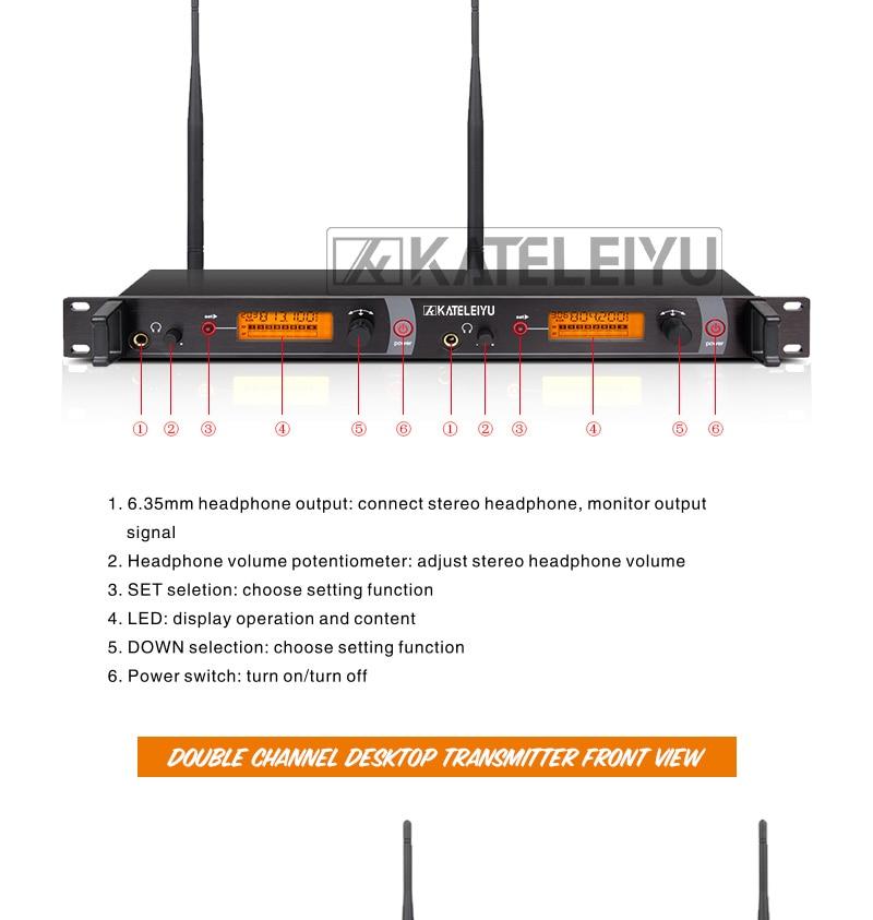 EM2050 Wireless in ear Monitor System 7 ear monitoring systems wireless stage monitor system EM2050 IEM bodypack monitor