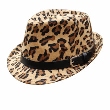 Leopard Men Women Unisex Vintage Trilby Cap Fedora Dress Hats(China)