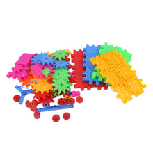 OCDAY Educational 81 Pieces Electric Magic Gears Building Blocks 3D DIY Plastic Funny Toy Mosaic Toys For Children Hot Sale(China)