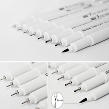 Marvy Sketch Liner Brush 0.03mm/0.05mm/0.1mm/0.3/0.5/0.8/1.0mm Water Resistant Gundam Drawing Pen Design Comic Painting Supplies(China)