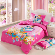 New high quality home children bedding set of Princess and Prince, 2 pillow case, 1 bed sheet and 1 duvet cover(China)