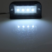 Universal Black 10-30V Waterproof 4 LEDs Number License Plate Light For Truck Trailer Car/Van