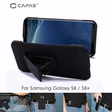 CAPAS Belt Clip Cover for Galaxy S8 Case Swivel Holster Slide 2 in 1 Case sfor Galaxy S8 / S8 Plus Cover Stand Protective Shield