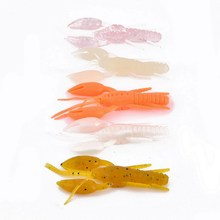 60pcs 8cm/6g Crawfish Soft Bait Fishing Lure Life-like Crayfish Jig Head Back Jump leurre souples(China)