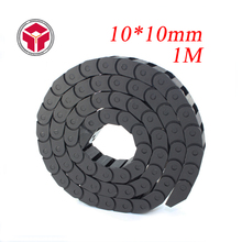 10 x 10mm L1000mm Cable Drag Chain Wire Carrier with End Connectors for CNC Router Machine Tools(China)