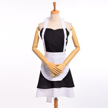 Woman Maid Cosplay Cotton Apron Vintage French Ruffle Pinafore Coffee Shop Homewear