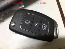 3Button Flip Remote Key for Hyundai Santa Fe/IX45 433MHZ 4D60 chip(China)