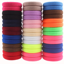 2017 new diameter 40mm nylon Spandex Elastic Hair Bands womens ponytail holder 13 colors hair accessories for girls 40pcs/lot