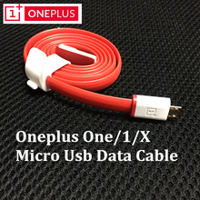 Original ONEPLUS One Data Cable 100CM Red Flat noodles Micro Usb Charge Charger Cable For One Plus 1 X Mobile Phones