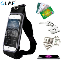 OLAF Universal Waist Phone Bag Waterproof Sport Running Waist Pack Pouch For iPhone Samsung Xiaomi Huawei Mobile Phone(China)