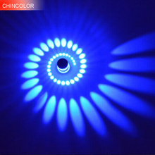Led wall lamp whirl wall light for KTV BAR home modern fixture 8 color luminous light sconce 3W AC85-265V indoor decoration UW