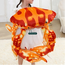 Dorimytrader Cute 80cm Giant Emulational Animal Crab Toy Stuffed Soft Animals Crabs Pillow Doll 31inches Children Gifts DY61693