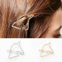 LNRRABC  Gold/Silver Barrettes Women Hollow Out Unicorn Geometry Hairpin Hair Clip Headwear Hair accessories hair clips Tiaras