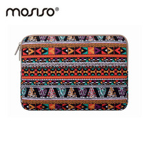 MOSISO Bohemian Style Canvas Laptop Sleeve Women Bag for Macbook Air/Pro/Asus/HP Computer Bag 11 12 13 15inch Zipper Cover Case
