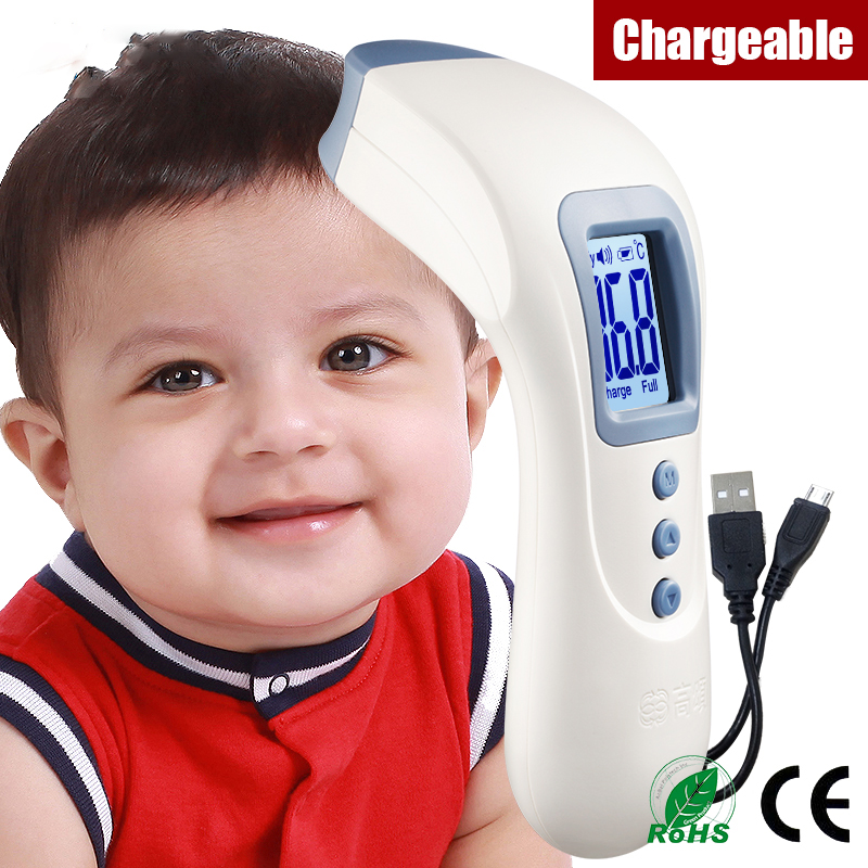 USB Multifunctional smart child adult medical fever body electronic baby forehead ear infrared thermometer digital lcd products<br>