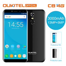 "Oukitel C8 4G 18:9 Aspect Ratio 5.5"" Infinity Display Smartphone 3000 mAh 13MP+5MP 2G RAM 16G ROM Fingerprint Mobile Phone(China)"