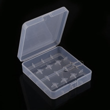 High Quality 18650 Battery Holder Case 4 Cell Plastic Transparent White Battery Case Holder Storage Box battery Container BS