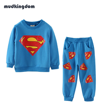 Mudkingdom Baby Boys Hero Superman Sets Fashion Long Sleeve Clothing Set Toddler Kids Baby Clothes Roupa Infantil Conjuntos