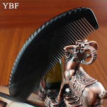 YBF Sessile Comb Black Buffalo Ox Horn hair Combs Natural Antistatic Style Brush Straightener Good for Head Scalp Wholesale 2017
