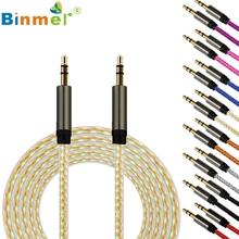 Levert Dropship Top Quality Binmer Best Price  3.5mm Jack Auxiliary Cable Audio Cable Male To Male Flat Aux Cable Aug 09