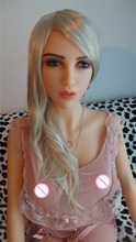 165cm newest head full silicone anime Blonde sex doll for men love dolls long curved wigs(China)
