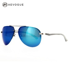 AEVOGUE Al-Mg Alloy Frame Brand Design Polaroid Sunglasses Men Good Quality Brand Polarized Lens Sun Glasses UV400 AE0180(China)