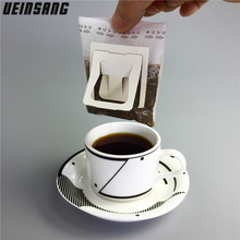 50Pcs / Pack Drip Coffee Filter Bag Portable Hanging Ear Style Coffee Filters Paper Home Office Travel Brew Coffee and Tea Tools(China)