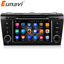 Eunavi Quad Core 7'' Android 7.1 Car DVD Player Head Unit Auto Stereo Radio For Old Mazda 3 04-09 WIFI 3G Bluetooth IPOD AUX OBD(China)