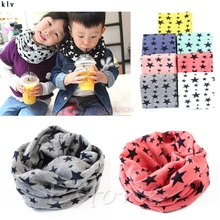 1pc New Scarf Winter Warm Boys Girls Collar Baby Scarf Children Stars O Ring Neck Scarves