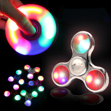 Buy 2017 Fidget spinner Glow dark LED three lights ADHD Anxiety Stress Hand spinner EDC Gift Finger Gyro toys party spinner for $1.09 in AliExpress store