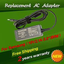 AC Power Adapter Laptop Charger 19v 2.1a For samsung Q1 Q30 R19 R20 X05 X06 X10 X11 X15 AD-6019 NC10 NC20 N110 ND10