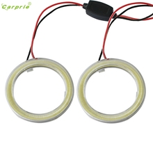 CARPRIE Top Quality Car Light 2pcs White 80MM COB LED Angel Eyes Headlight Halo Ring Warning Lamps with Cover  Light New #1221