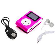 Binmer Good Sale Metal Clip Digital MP3 Player mini LCD Screen support for 2/4/8/16GB TF Card + Earohone + Data cable Jun 10