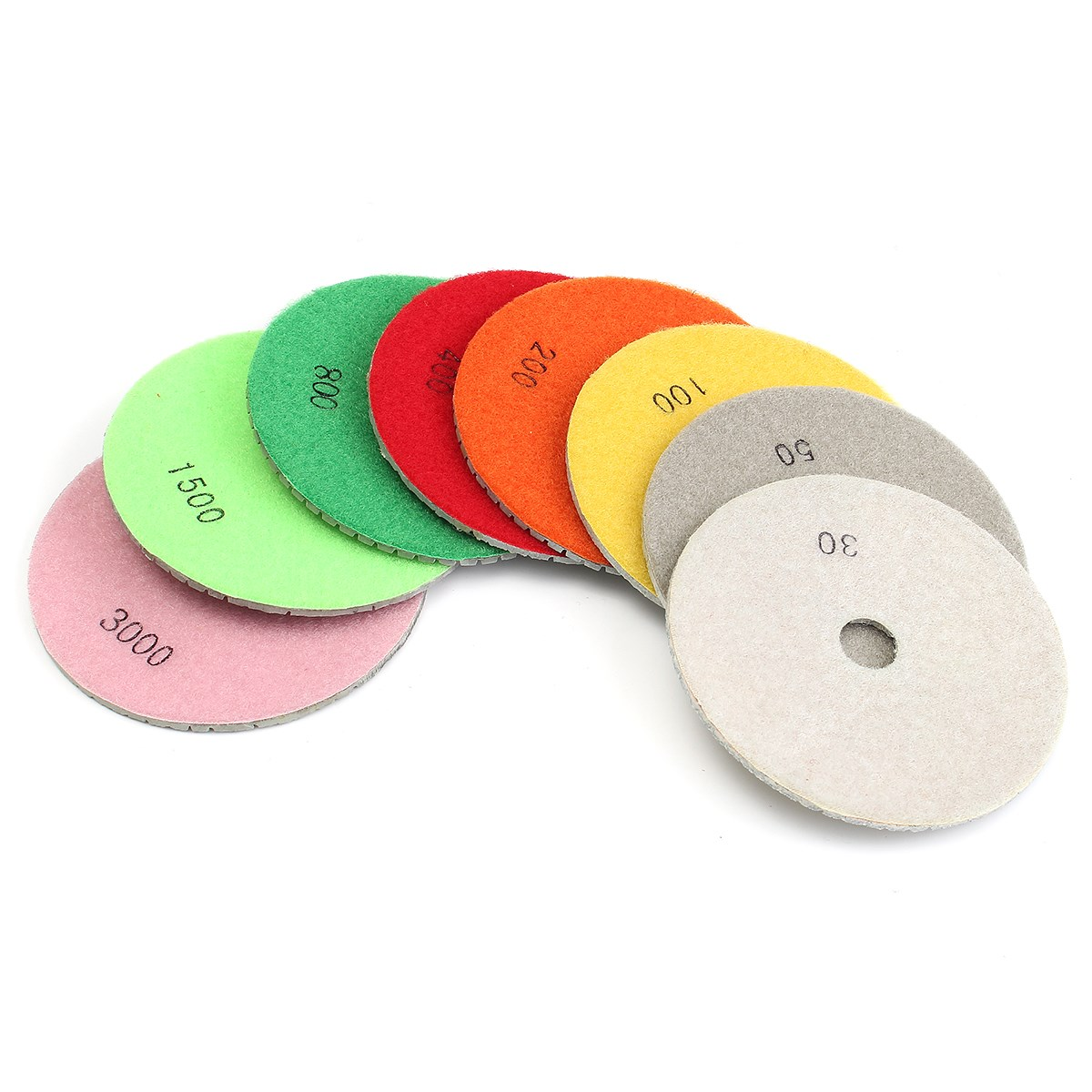 High quality diamond polishing tool granite marble concrete stone tile tiles multi - purpose polishing pad 9PCS<br>