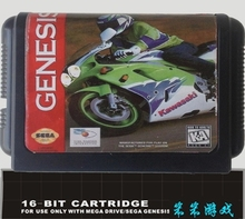 Kawasaki Superbike Challenge - 16 bit MD Games Cartridge For MegaDrive Genesis console