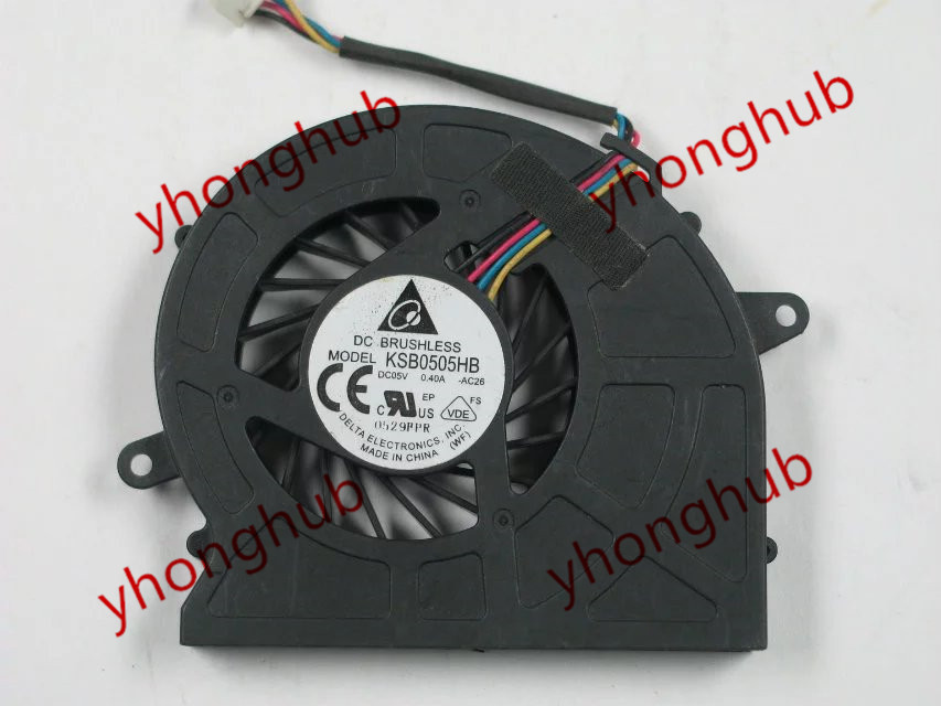 Free Shipping For DELTA KSB0505HB -AC26 DC 5V 0.40A 4-wire 4-pin  connector  Server Cooling fan <br>
