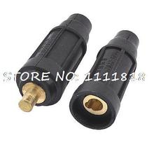 Pair Rubber Welding Cable Connector Cable Joint Welder Plugs 13mm