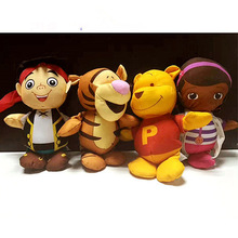 4pcs Original Doc Mcstuffins Winnie Tiger Jake Pirate Handmade DIY Plush Toys Stuffed Soft Doll for Children Gift Education Toy