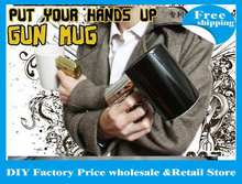 18pcs/lot DHL/EMS Free shipping New The most powerful Pistol Grip Cups Gun mug 400g(China)