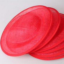 red for select 30CM  SINAMAY fascinator base Great for making fascinators party hats cocktail hats Millinery accessoires