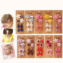 2016 New Fashion Girls Clips Set Europe American Magazine Design Safe Hairpins Side Clips Hair Barrettes Kids Hair Accessories