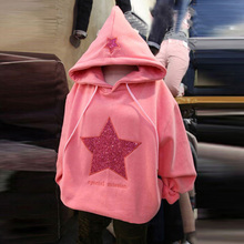 2017 Original design good quality Modern stylish hip hop hoodies Five-pointed star streetwear Woman hoodies(China)